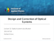 DCS 12 Optical system classification