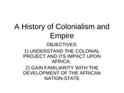 A History of Colonialism and Empire