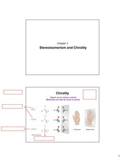 Chapter 3-Stereoisomerism and Chirality
