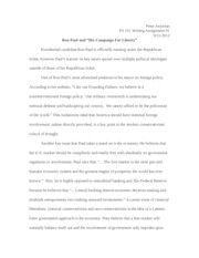 PS 101 Candidate Ideology Paper
