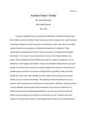 Anaylsis paper