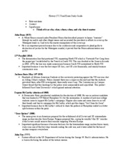History 17C Final Exam Study Guide