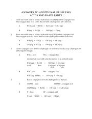 Answers to Additional Problems Acids and Bases Part 1 (1)