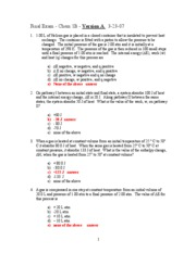 answer key final exam Version A 3-20-07
