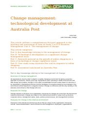Change Management at Australia Post.doc