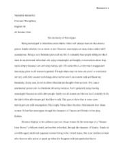 anova and nonparametric tests essay