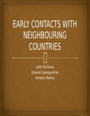EARLY CONTACTS WITH NEIGHBOURING COUNTRIES.pptx