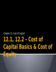 Chapter+12.1,+12.2+–+Cost+of+Capital+Basics++Cost+of+Equity.pptx