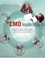 CMO Leadership for the 21st Century