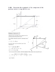 statics problem dot product