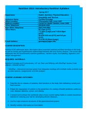 Nutrition 1010 Syllabus F2F template Final version revised January  2017(1) (1)