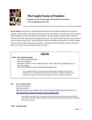 9-10 The Fragile Frame of Freedom Text Set
