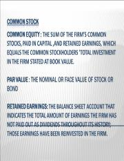 Common Stock.ppt