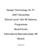 (www.entrance-exam.net)-IB Board-12th IB Diploma Programme Design Technology HL P1 Sample Paper 3.pd