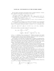 12 - Convergence of the Fourier Series