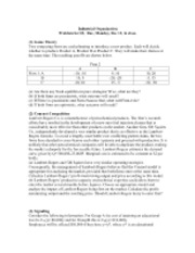 Problem set 5 Questions and Solutions
