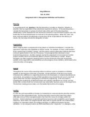 Wilkinson_Unit 1 Assignment_Management Definition and Functions.docx