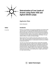 Determination of low levels of Arsenic