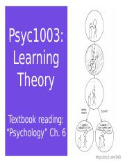 Psyc1003 Learning Theory.ppt