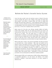 Juvenile_Justice_issue brief Anne E Casey Foundation