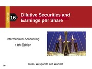 Dilutive Securities per share