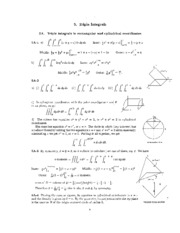5. Triple Integrals Solutions