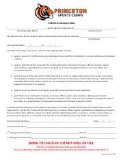 parental release form for photos