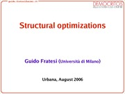 Fratesti_structuraloptimizations