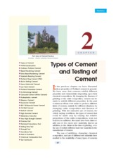 2.Types and Testing of cement
