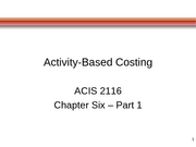 ACIS 2116 Chapter 6 Part 1