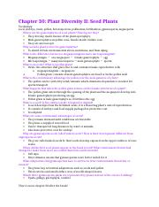 Chapter 30 study guide