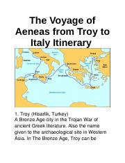 8.08 The Voyage of Aeneas from Troy to Italy Itinerary.docx