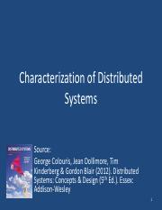 W01_Characterization of Distributed Systems
