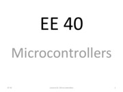 L16 Microcontrollers