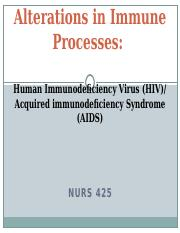 Alterations in Immune Processes- HIV_AIDS PP Lecture_Student Version