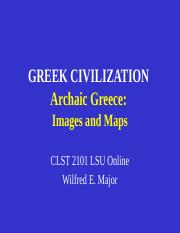 CLST 2101 Unit 2 Archaic Greece - images and maps