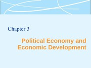 Political Economy and Economic Development Lecture Slides