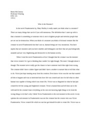 monster essay