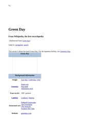 Green Day - Wikipedia, the free encyclopedia