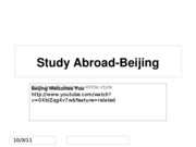 Study Abroad-Beijing