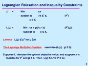 Inequality Constraints notes