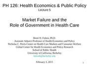 PH126 5. Market Failure and Role of Government 02.03.15