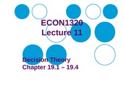 ECON1320 Lecture 11 - Decision Theory