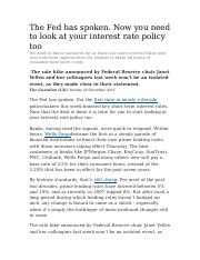 How The Interest Rate Hike Will Affect Consumers.docx