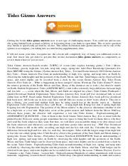 Tides Gizmo Answers.pdf - Tides Gizmo Answers As ...