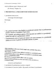 12  Presidentialism vs Parliamentarism   OUTLINE