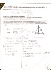 Similar Triangle Proofs