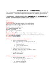 CIS3390_Chapter10_Key Learning Points (AutoRecovered).docx