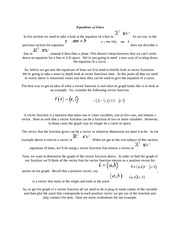 Calculus Equations of Lines