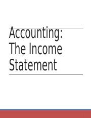 Accounting - The Income Statement (2).ppt